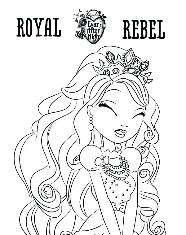 600x759 Coloring Ever After High Ever After High Raven Queen Coloring