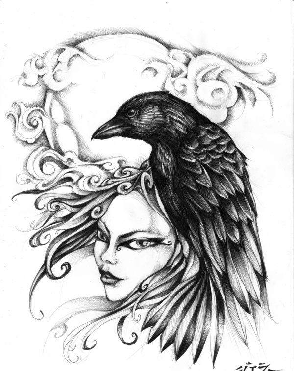 600x756 26 Best Raven Images On Raven Tattoo, Ravens