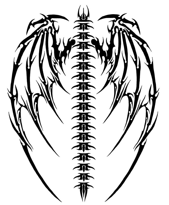 688x834 40 Best Cool Tribal Wings Tattoo Stencil Images