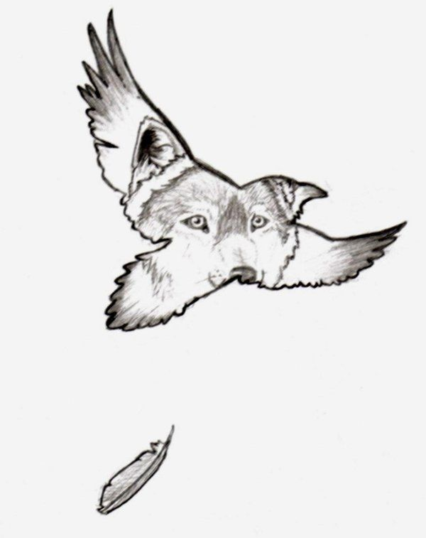 600x757 Raven And Wolf Tattoos Raven Guide