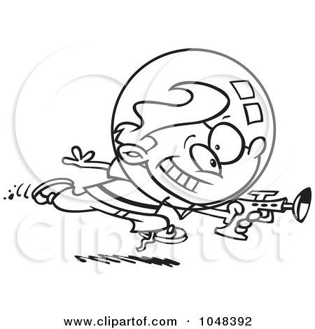 450x470 Royalty Free (Rf) Clip Art Illustration Of A Cartoon Black