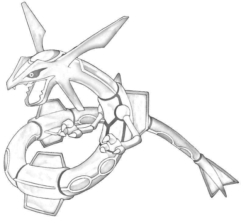 Rayquaza drawing at free for personal - Dessin de rayquaza ...