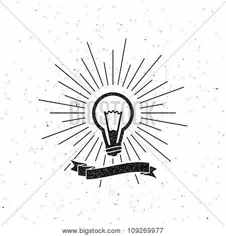 450x470 Light Bulb Label Ribbon Light Rays Vector Amp Photo Bigstock