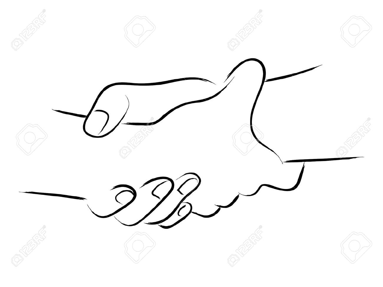 1300x975 Simple Line Art Of Two Hands Holding Each Other Strongly Royalty