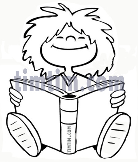 450x527 Free Drawing Of A Girl Reader Bw From The Category Books News