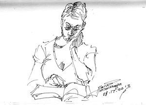300x215 Girl Reading Book Drawings Fine Art America