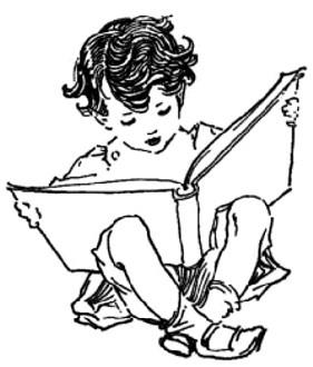 281x330 Little Boy Reading A Big Book Little Readers Books