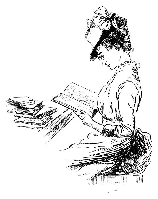557x700 Lady Reading Prim
