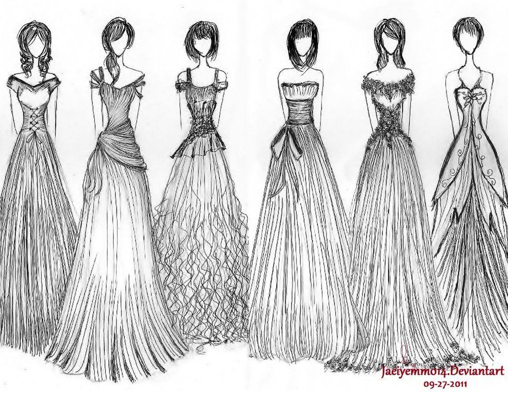 1016x786 Dress Sketch Can 1, 2, And 6 Be In Real Life, Please Personal