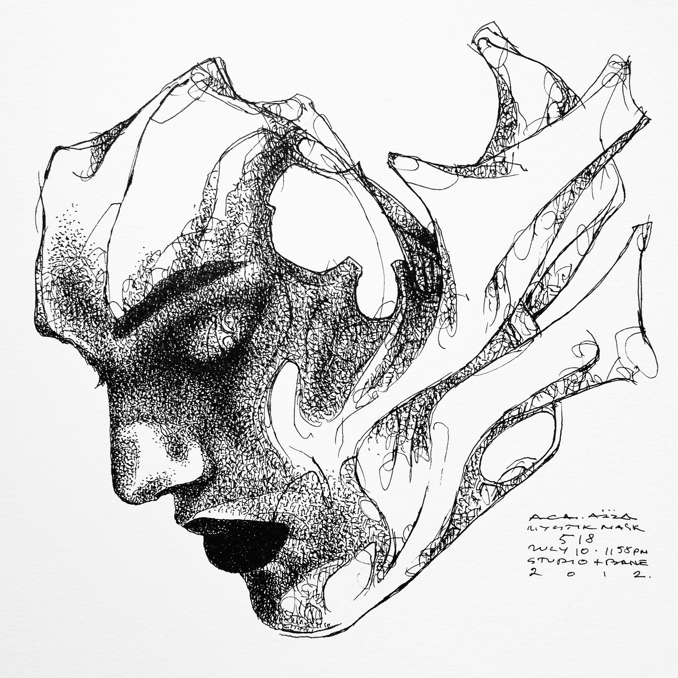2272x2272 Mystik Mask Art Drawing Spirits