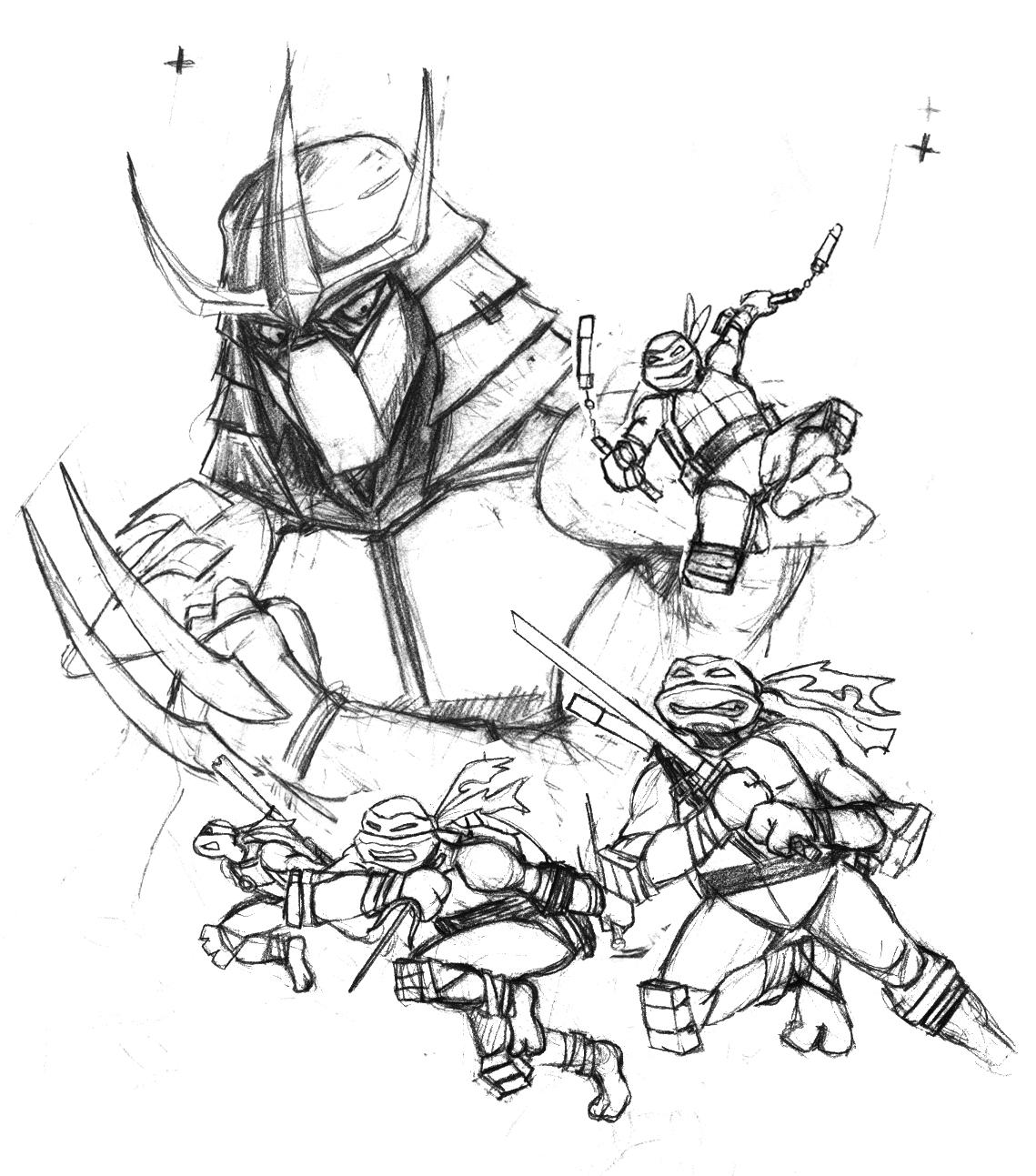 1139x1293 Ninja Outline Sketches Outline Ninja Turtles Tattoos Photo