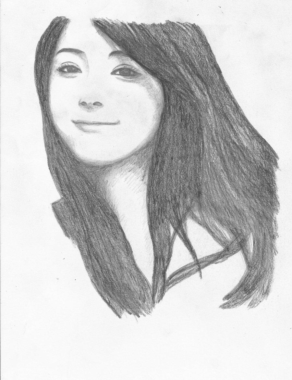 900x1170 Nozomi Sasaki (My First Realistic Drawing Trial) By Winterijay