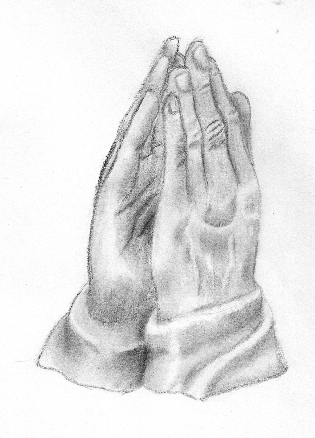 1024x1421 Praying Hands By The Real Kunata