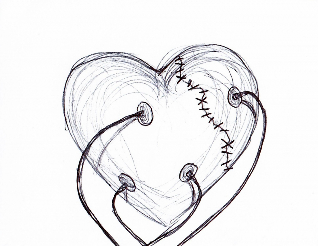 1024x794 Real Heart Pencil Art Pic Simple Pencil Drawings Of Hearts
