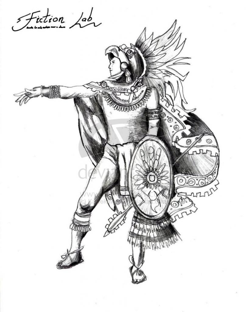 808x1024 Aztec Warrior Drawing Jaguar Warrior Tattoo Drawing Real Photo