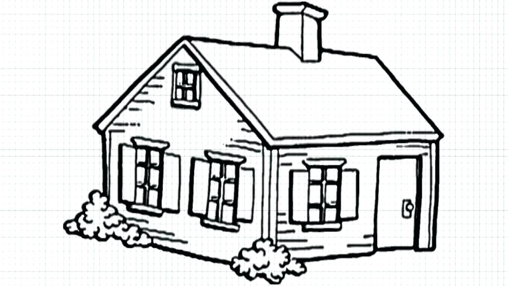 1024x576 Easy House Drawing How To Draw A House Step By Step Step Easy