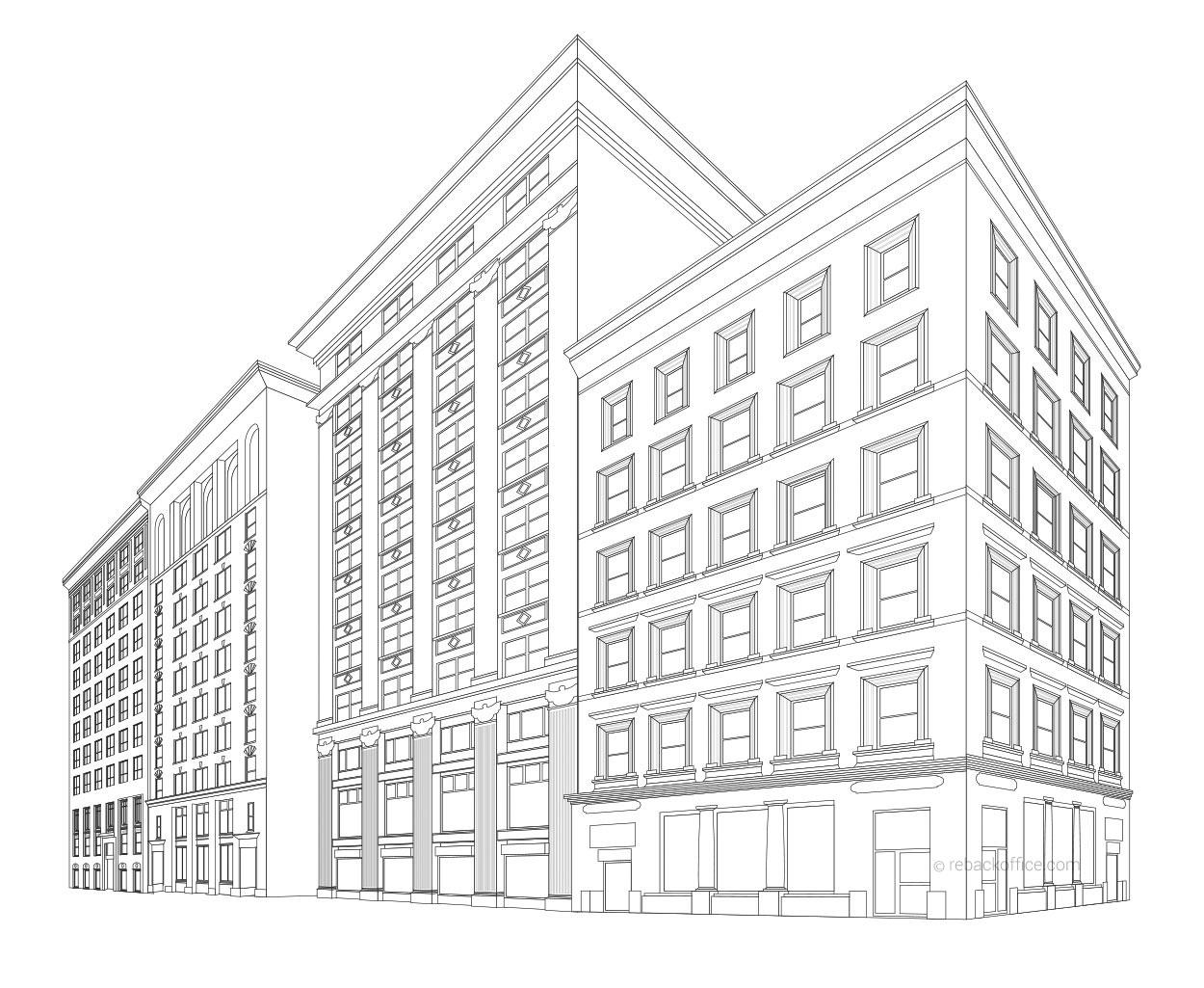 1250x1025 Rebackoffice Building Line Art Renderings Example 02