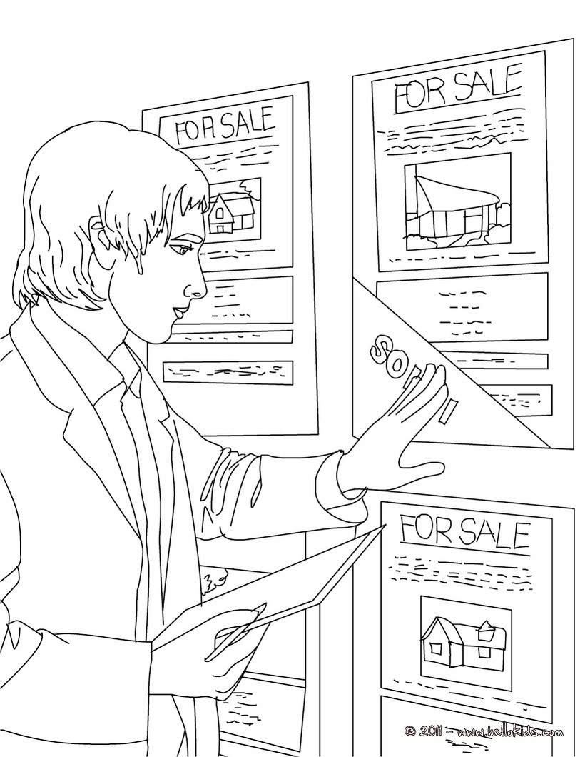 820x1060 Real Estate Agent Up Dates Real Estate Ads Coloring Page. Amazing