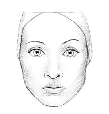 383x399 How To Draw A Realistic Face (Female)