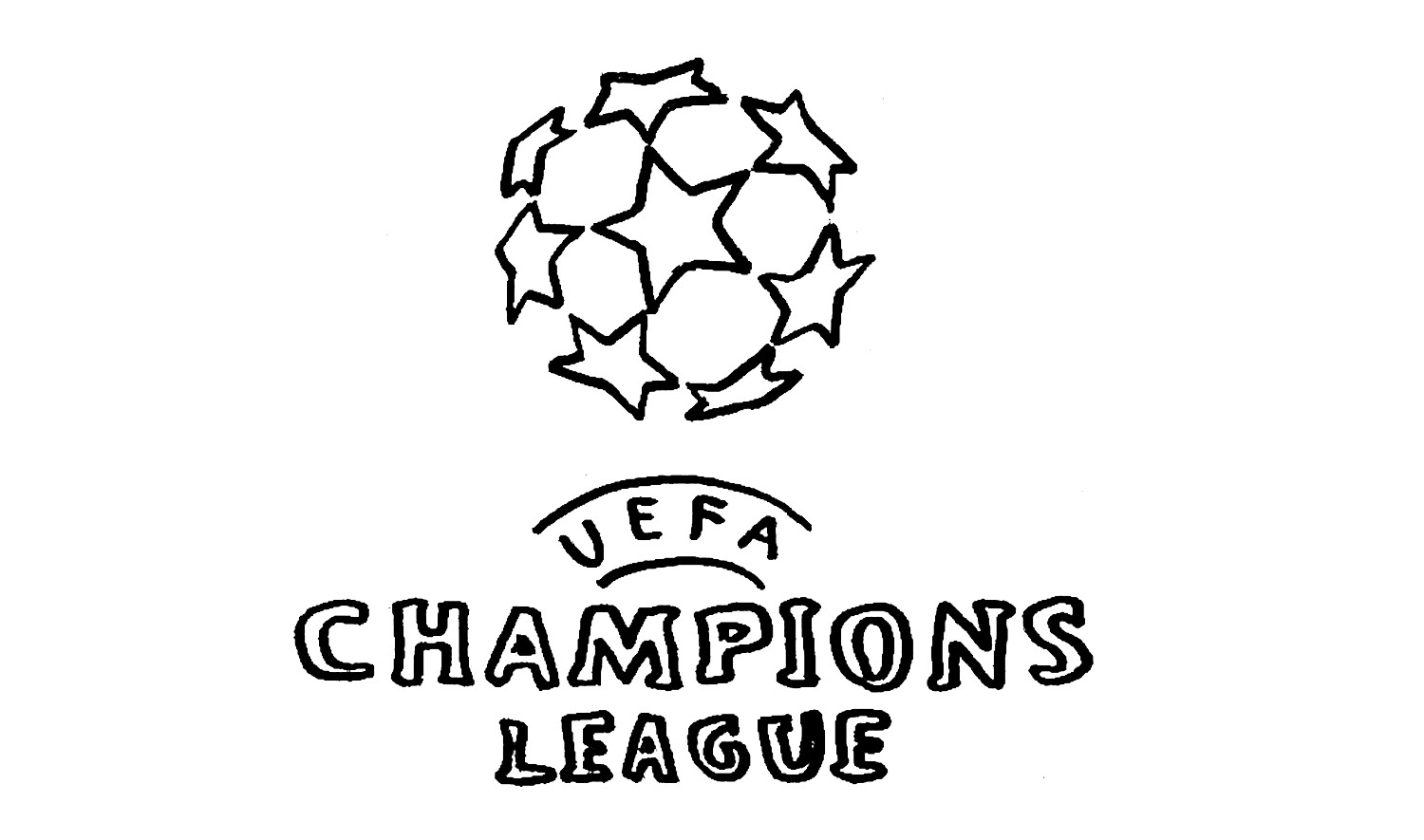 1500x885 How To Draw The Uefa Champions League Logo