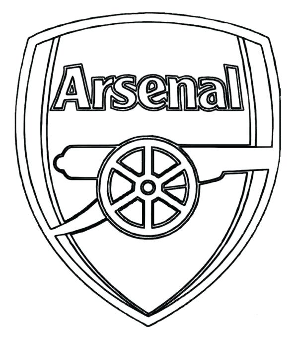 600x682 Real Logo Soccer Coloring Pages Boys Pagesreal Madrid Arsenal Png