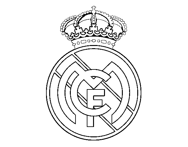 600x470 Real Madrid C.f. Crest Coloring Page