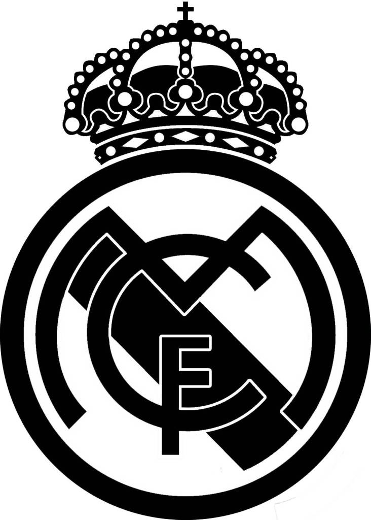 732x1024 Real Madrid Cf Logo Stencil Tattoo