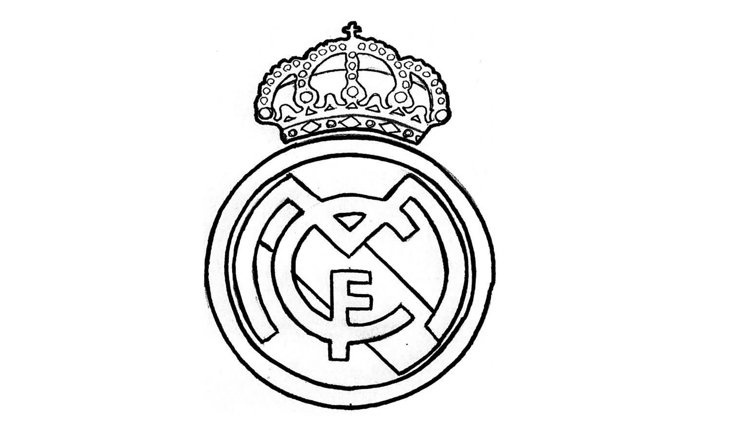 1500x885 Wonderful Simple And Nice Real Madrid Logo Stencil Tattoo