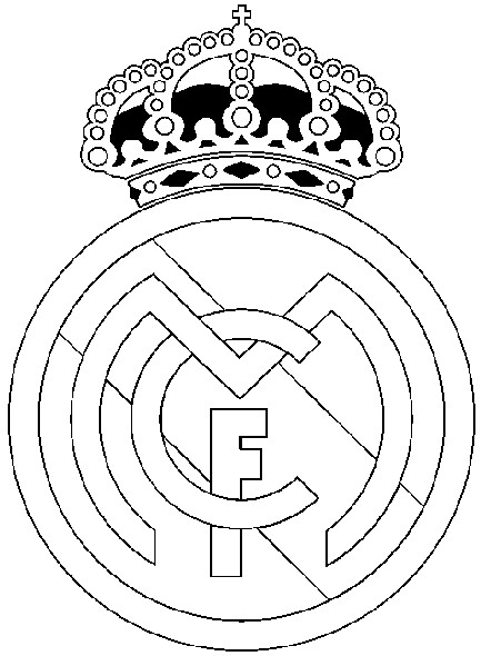 442x590 Coloring Page Soccer Real Madrid Badge 24
