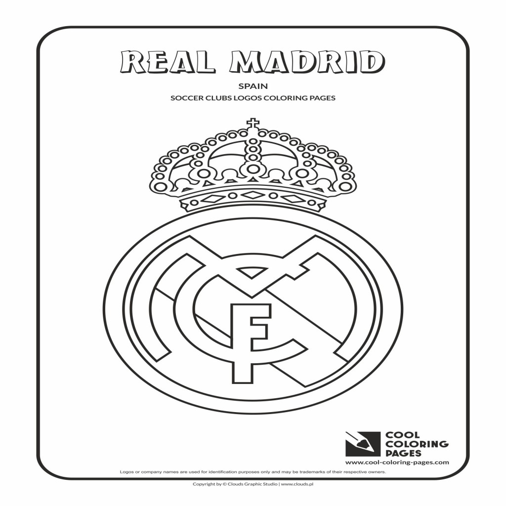 1024x1024 Cool Coloring Pages Others Real Madrid Logo Coloring Page