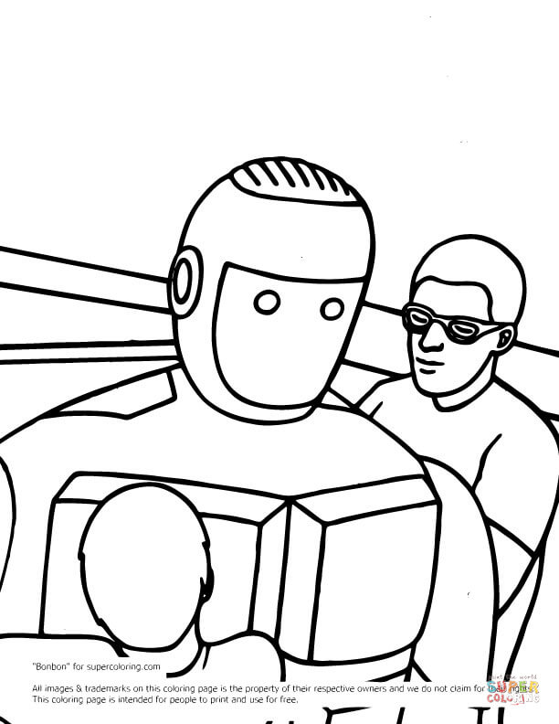 612x792 Real Steel Atom Coloring Page Free Printable Coloring Pages