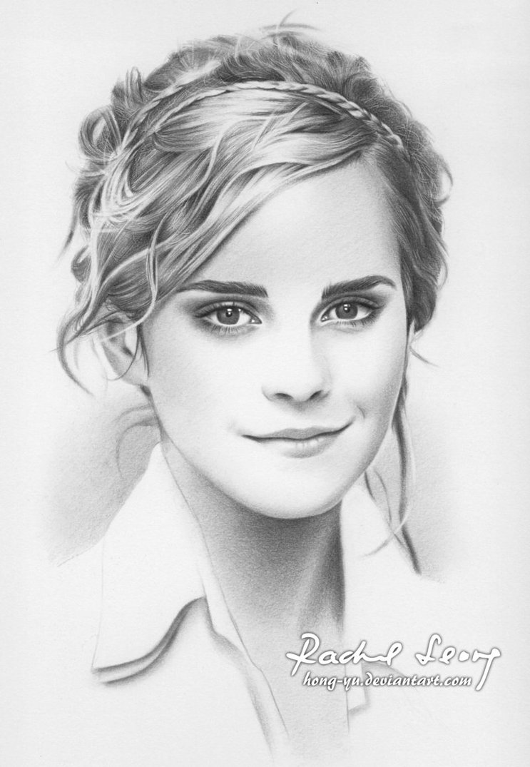 743x1075 Emma Watson 1 By Hong Yu On Hand Drawn Portraits