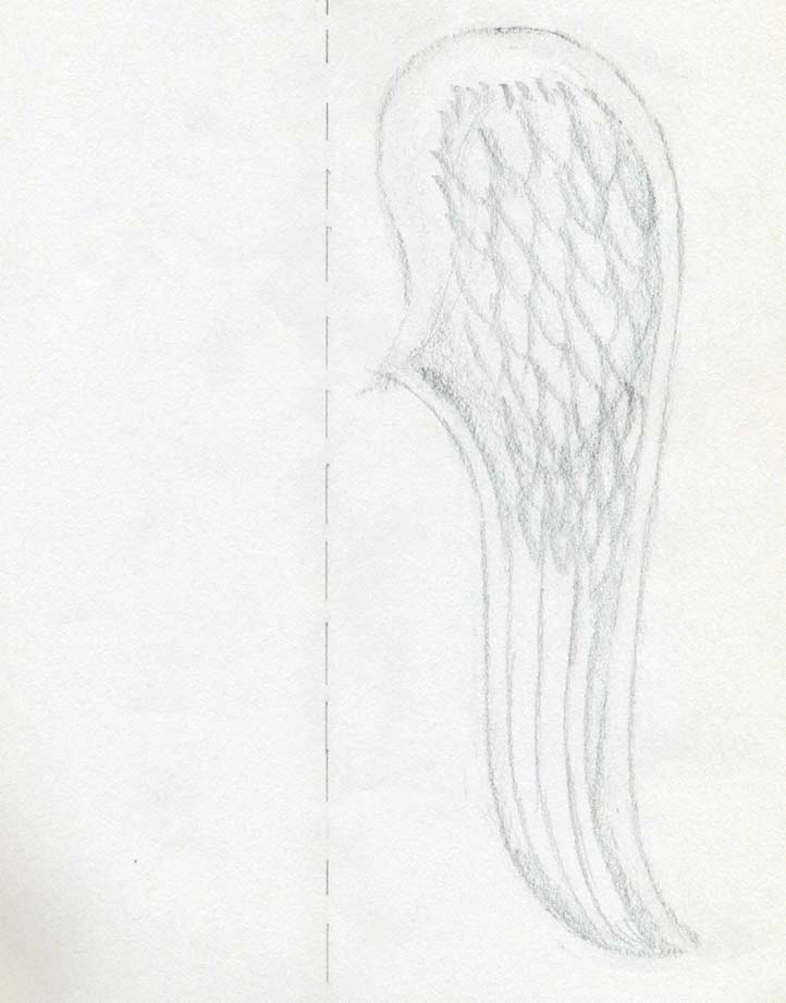 722x921 How To Draw Angel Wings Quickly In Few Easy Steps