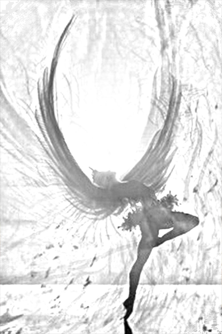 729x1095 Pencil Painting Easy Fallen Angel