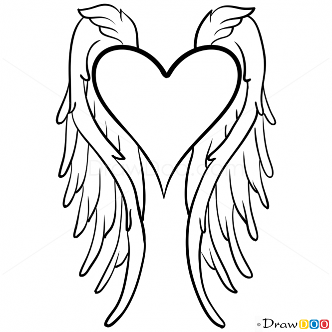 665x665 Angel Wings Drawing, Step By Step Drawing Lessons Tom Osorio