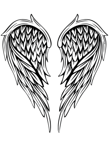 371x480 Angel Wings Tattoo Coloring Page Free Printable Coloring Pages