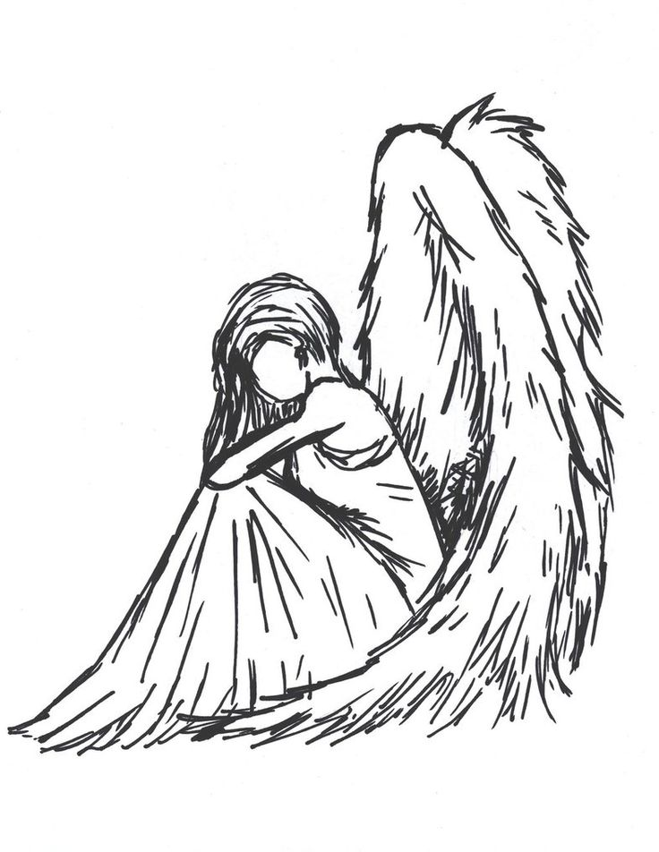 736x952 Gallery Angel Drawings Black And White,