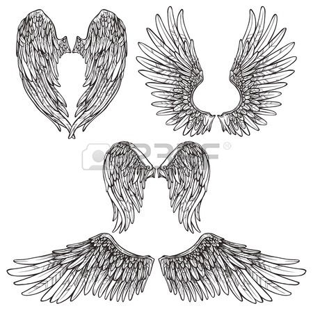 450x450 2,311 Angel Wings Vector Stock Illustrations, Cliparts And Royalty