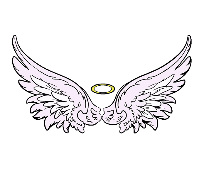 678x600 Pictures Angel Wings Drawing Easy,