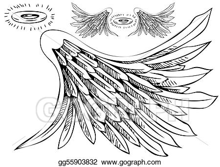 450x341 Wings Drawings With Halo