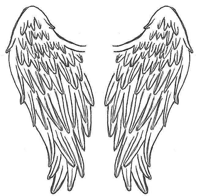 650x640 Angel Wings Tattoo Backpiece Woman Blond Lingerie Tattooed