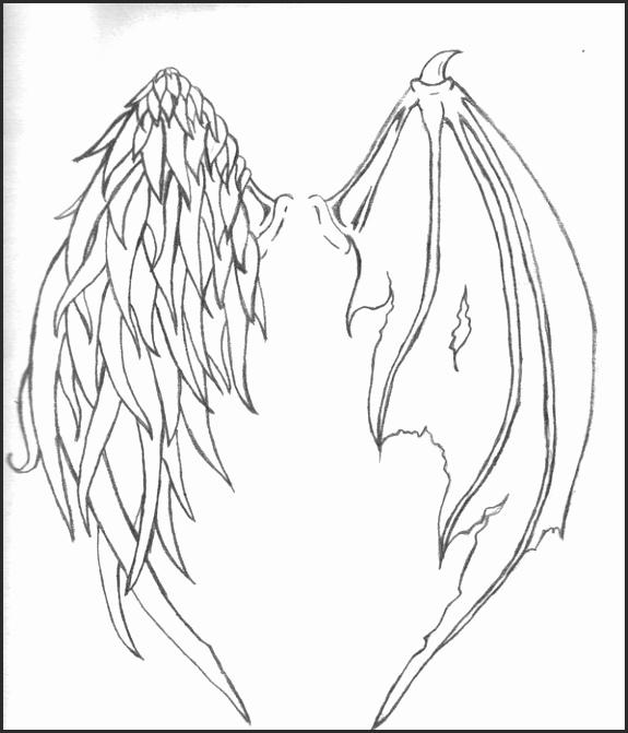 575x671 Angel And Demon Wing Tattoos Yerjf Inspirational Half Demon Half