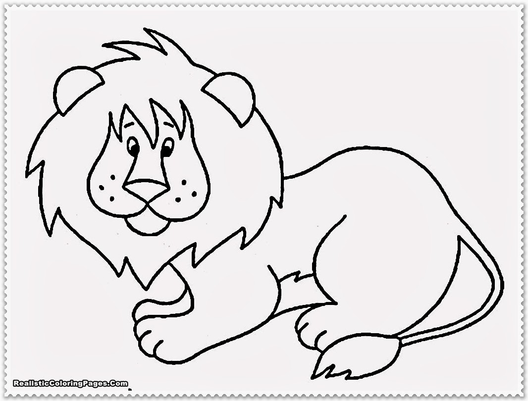 Realistic Animals Drawing At Getdrawingscom Free For Personal - Coloring-pages-jungle-animals