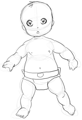 281x412 How To Draw Babies Step By Step Drawing Tutorial Techniques