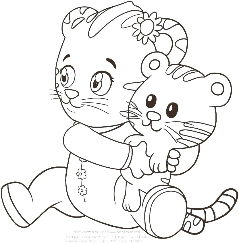 832x850 Tiger Coloring Pages Baby Tiger Coloring Pages Print A Realistic