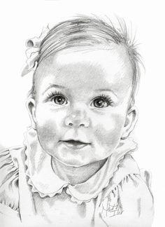236x324 Baby Pencil Portrait Drawing Dibujo Pencil
