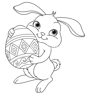 380x400 Bunny Coloring Pages