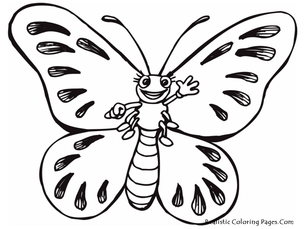 1024x768 Realistic Butterfly Coloring Pages Realistic Coloring Pages