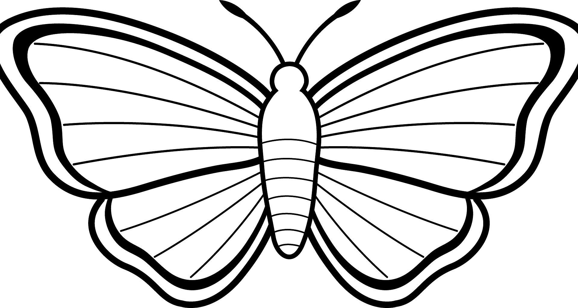 1920x1024 Amazing Butterfly Coloring Page About Remodel Free Pages Printable
