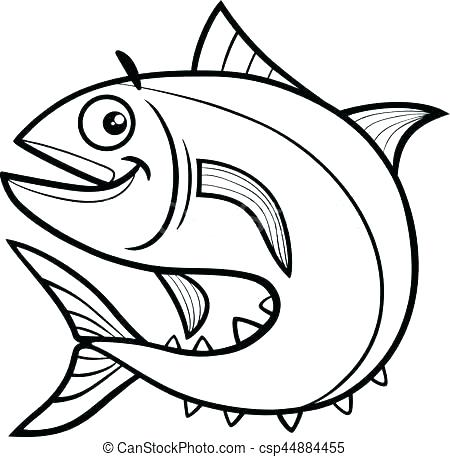450x457 Realistic Fish Coloring Pages Delightful Fish Coloring E Image